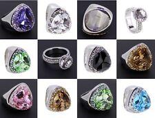 Ring Edelstahl mit Swarovski Elements, Edelstahlringe div. Ringe Modelle NEU