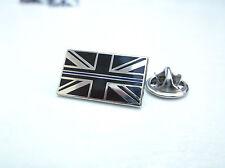 UK UNION JACK THIN BLUE LINE POLICE MOURNING BAND ENAMEL LAPEL PIN TIE BADGE