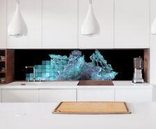 Aufkleber Küchenrückwand 3D Effekt Eis blau Kachel Folie Spritzschutz 22A177
