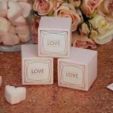 Wedding Favour Boxes Geo Blush Love
