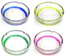 Glas Aschenbecher Glas Ascher Aschenbecher Rund 4 Farben NEUWARE