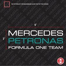 2X MERCEDES PETRONAS FORMULA 1 ONE TEAM  F1 Sticker Vinyl Decals