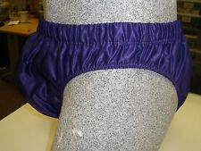 NEW Nylon Satin High Cut Brief, Swim Trunks Small to XXL - Purple