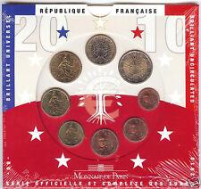 France 2010 - Official (BU) Euro Coin Set