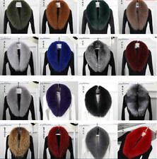 100% Genuine Real Fur Collar Womens Scarf Shawl Wrap Stole Warm Neck Warmer