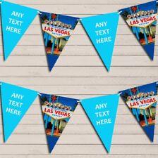 Blue Las Vegas Birthday Bunting Garland Party Banner