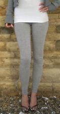 Ankle Full Length Leggings Viscose Womens Pants Grey Size 8 10 12 14 16 18 22 24