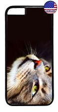 Cute Cat Face Kitty Kitten Pet Rubber Case Cover iPhone Xs Max XR X 8 7 6 Plus 5