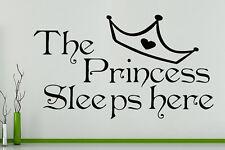 Tiana duerme Aquí Dormitorio Niña Adhesivo de pared decorativo imagen Póster