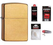 ZIPPO Feuerzeug Armor Case Brass Brushed Messing gebürstet mit oder ohne Zubehör