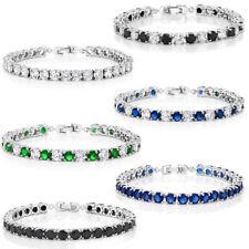 Sparkling 7 Inch Multi-Color Round Cubic Zirconia CZ Women's Tennis Bracelet