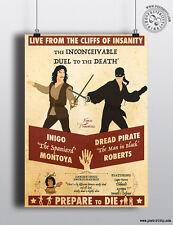 La Princesa Novia-duelo Minimalista Movie Poster mínima posteritty Ltd Ed