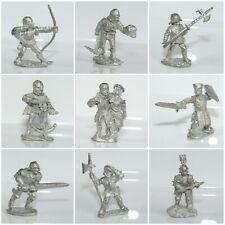 Citadel Pre-Slotta Metal Miniatures Medieval Knights Archers Peasants Warhammer