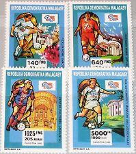 MADAGASCAR MALAGASY 1992 1399-02 1095-8 Soccer World Cup 1994 USA Fußball WM MNH