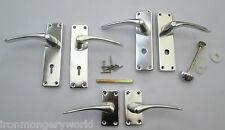 Aluminio Pulido Curvados Diseño Contratar Puerta Ranura Palanca Manillas Puerta
