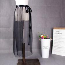 Women Mesh Sheer Skirt Wrap Skirt Sarong Beach Transparent Tulle Fashion New