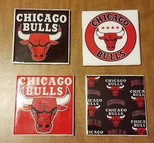 Chicago Bulls 4x4 Ceramic Coasters Handmade