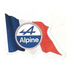 Sticker RENAULT ALPINE left flag gauche