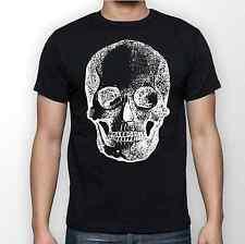 White Skull Bone Men's Black T Shirt Tee S M L XL XXL