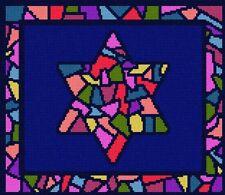 Tallit Stained Glass Needlepoint Kit or Canvas (Jewish/Judaica/Wedding/Tallis)