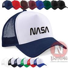 NASA LOGO ESPACE SCIENCE LUNE ASTRONAUTE DEMI maille rétro camionneur