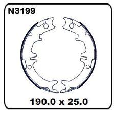 For Lexus LS400 UCF20 10/94-8/2000 REAR Handbrake Shoe SET N3199