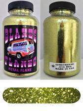 Blakes Metal Flake .015  Limetreuse Green Yellow Hot Rod custom 5oz jar