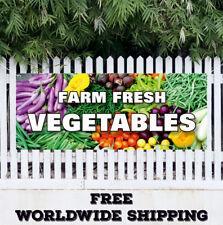 Banner Vinyl FARM FRESH VEGETABLES Advertising Sign Flag Farmer Market Organic
