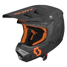 Scott 350 Evo Camo MX Enduro Motorrad / Bike Helm schwarz/orange 2019