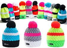 Hombres Mujeres Beanie Sombrero Invierno Gusano sombreros Pom Pom de Punto Holgado Esquí Skate Cookie