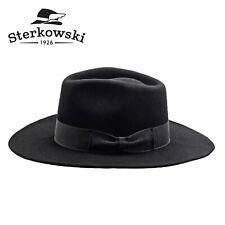 Sterkowski CHICAGO Wool Fedora Hat Ranger Gangster Gambler Godfather Vintage