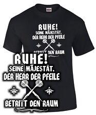 T-Shirt Darten SEINE MAJESTÄT DER HERR DER PFEILE Darter Dart Dartshirt wm em