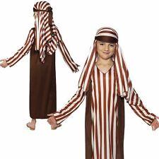 Kids Christmas Nativity Shepherd Fancy Dress Costume Robe Headpiece Boys Girls