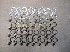 "Urbanest Metal Curtain Drapery Rings with Clips, 8 PK, 1 3/8""  Inner Diameter"