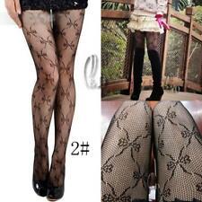 AU SELLER Vintage Black Net Flowery Dance Tights pantyhose stockings hos001-2