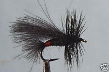 1 x Mouche Sèche Sedge Noire H14/16/18/20/22 black dry fly mosca fliegen truite