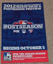 2012 MLB Season Recap and Postseason Preview Guide  MAJOR LEAGUE BASEBALL 12