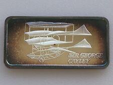 1975 Hamilton Mint Sir George Cayley HAM-653 Silver Art Bar D2165