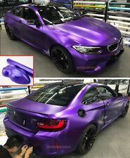 Newest Car Pearl Metal Satin Matte Chrome Vinyl Wrap Sticker Decal Purple - AB