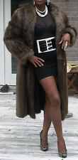 Mint midi Full length Unisex  man or womans Beaver Fur Coat jacket Stroller  M