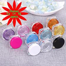 60 Cosmetic Sample Jars Refillable Jar Pot Containers - 3 grams or 5 grams