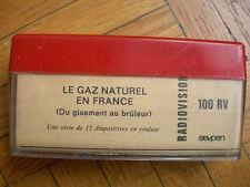 DIAPOS EDUCATIVES  BOITE RADIOVISION - GAZ NATUREL FRANCE DU GISEMENT AU BRULEUR