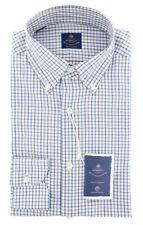 New $600 Luigi Borrelli Brown Shirt - Extra Slim - (EV06RC130470)