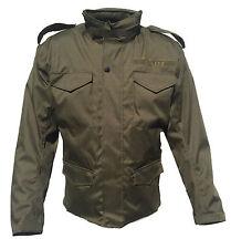 Textil Motorradjacke M65 Style in oliv, Army, Feldjacke,