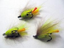 choix de tailles, 3 VERT HIGHLANDER Treble Crochet Salmon Fishing Flies