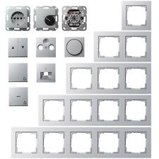 Gira E2 / System 55 Farbe Alu - Rahmen Steckdose Schalter Wippe -Auswahl