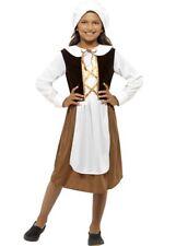 Tamaño de niños Marrón Tudor Disfraz Niña