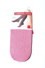 LOT 2 PAIRES DE MI-BAS RESILLE rouge rose femme TU TEX NEUF