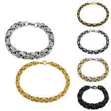 Edelstahl-Armkette Königskette Armband Panzerkette silber gold schwarz
