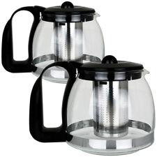 Teekanne Glas Deckel Teesieb Teebereiter Glaskanne Teegeschirr Edelstahl Sieb